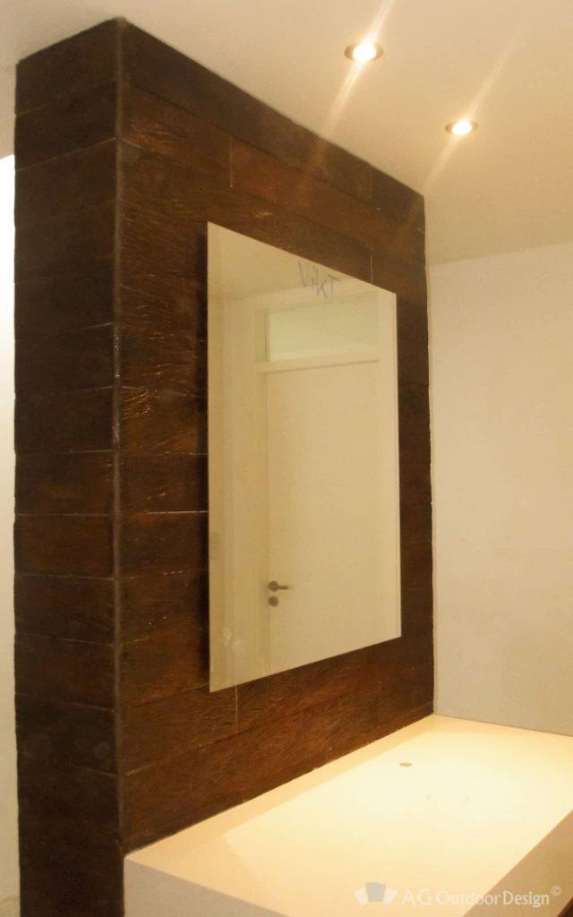 Baño revestido con Quebracho Wall AGOD • AG Outdoor Design