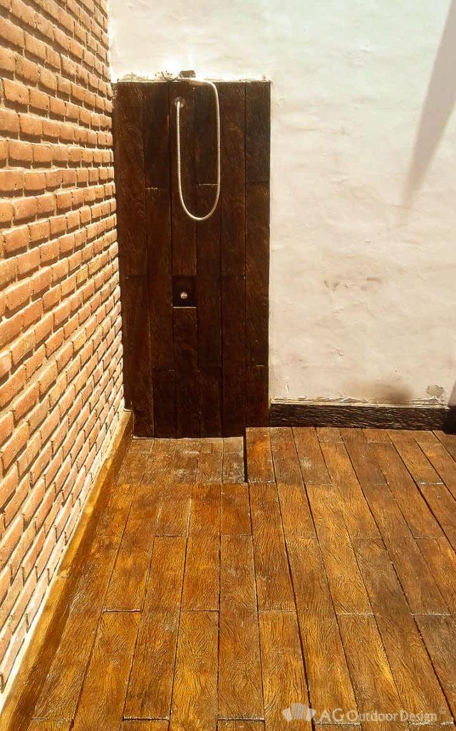 Ducha y Deck en Lapacho AGOD • AG Outdoor Design