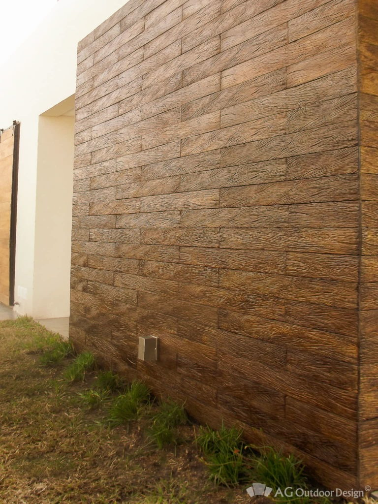 Fachada con Quebracho Wall AGOD • AG Outdoor Design