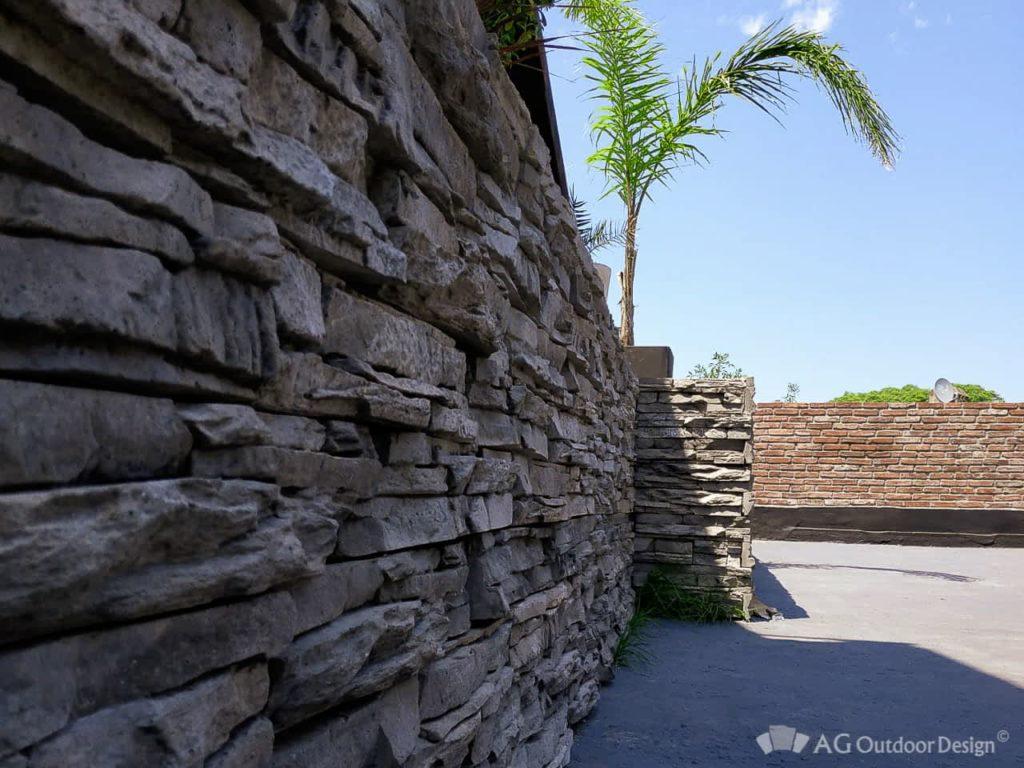 Paredes revestidas simil piedra Pirca AGOD • AG Outdoor Design