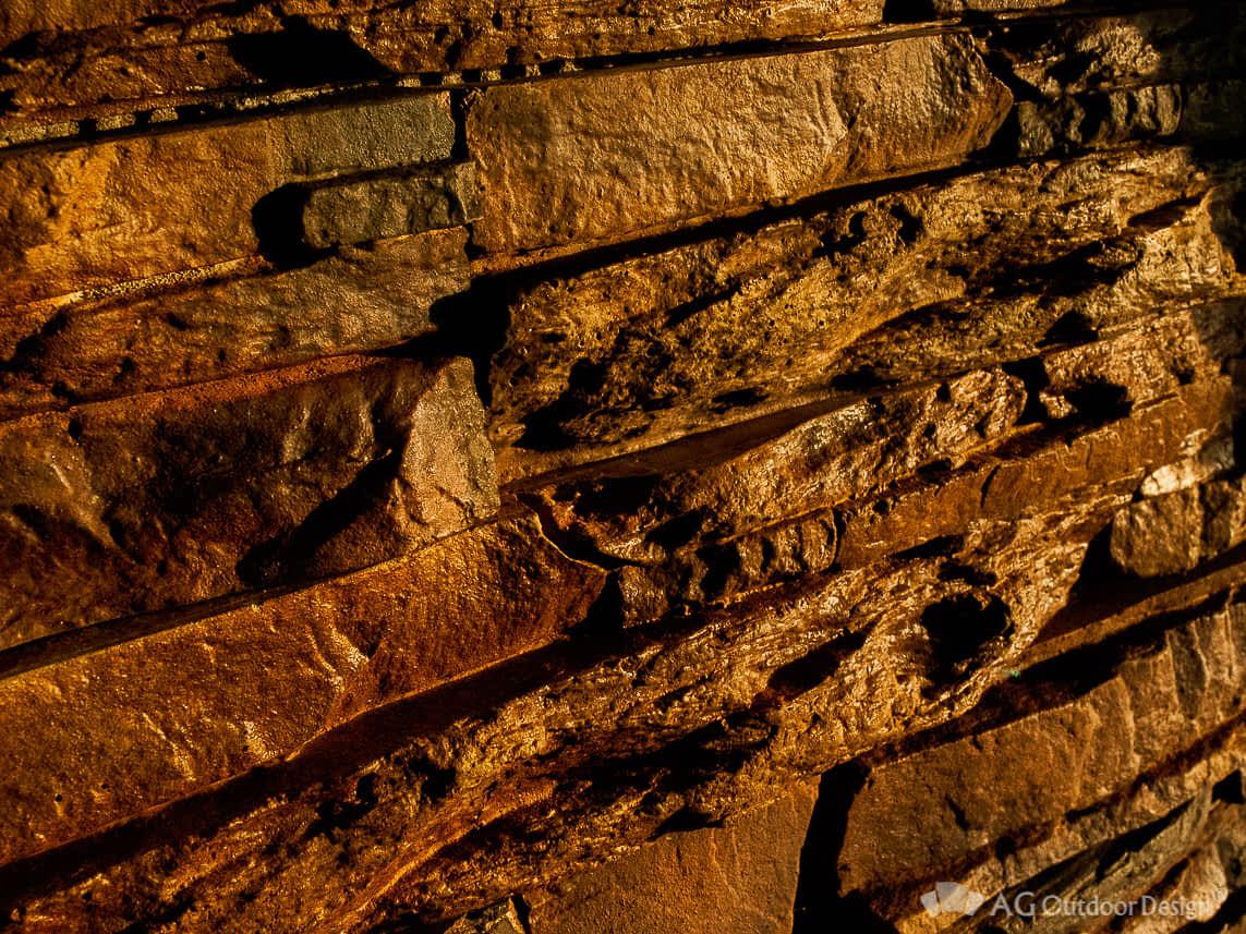 Revestimiento Ecologico simil piedra Pirca AGOD marron o • AG Outdoor Design