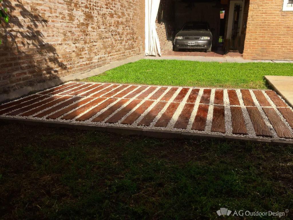 Simil durmiente de hormigon Lapacho AGOD pergola • AG Outdoor Design